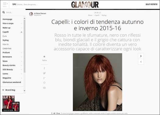 """@EVOS_italia   5 SCATTI #EVOSROCKINFASHION SU GLAMOUR.IT! """"CAPELLI: I COLORI DI TENDENZA AUTUNNO E INVERNO 2015-16"""" """"Rosso in tutte le sfumature, nero con riflessi blu, biondi glaciali e il grigio che cattura con inedite tonalità. Il colore diventa un vero accessorio capace di caratterizzare ogni look"""""""