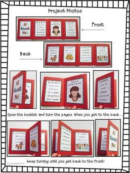 """Back to school FREEBIE! I hope you enjoy this """"All About Me"""" mini-book! This is a cute and simple project that would make a great """"first day of school"""" activity!"""
