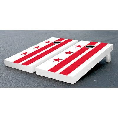 Victory Tailgate District of Columbia Flag Cornhole Game Set