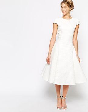 True Decadence Textured Midi Prom Dress with Full Skirt