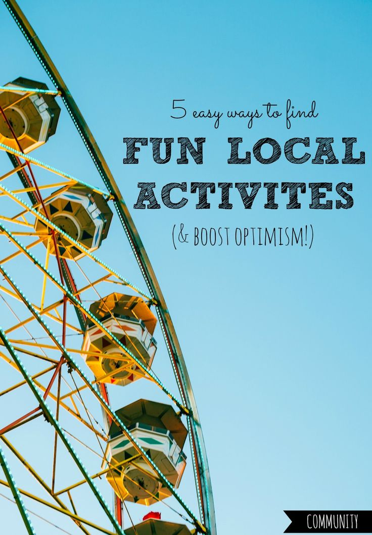 Ever struggle to find or keep up with fun local activities? Here are 5 easy ways to get in and stay in the loop today, all with minimal effort!