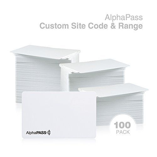 Same Day Custom Programmed AlphaPass PVC Proximity Card for Access Control. Replaces HID 1386 ISOProx II Cards. Standard 26 bit H10301 Format. Choose your Facility Code & Range (100 Pack)  100 pack of AlphaPass PVC Prox Cards (replaces HID 1386)  Standard 26 bit format H10301  Same day customization with your facility code & range  Card range is printed on card exterior  Lifetime Guarantee