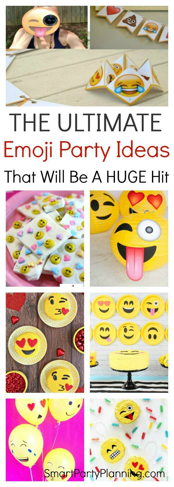 Try these 13 DIY emoji party ideas to create the ultimate emoji party. There are ideas for themed food, free printable's, games and activities and take home party favors. Kids and adults alike are going to think that this party theme is awesome and everyone is going to have a whole lot of fun. #Emoji #Party #Kids #Party #Birthday