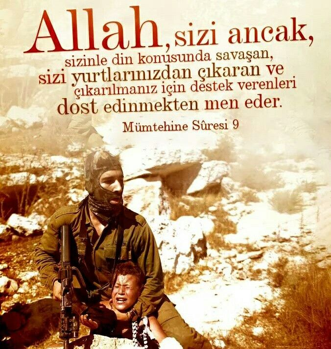☝  Bismillahirrahmanirrahim Allah, sizi ancak, sizinle din konusunda savaşan, sizi yurtlarınızdan çıkaran ve çıkarılmanız için destek verenleri dost edinmekten men eder. Kim onları dost edinirse, işte onlar zalimlerin ta kendileridir. | Kur'ân-ı Kerîm Mümtehine Sûresi 9  #din #savaş #islam #cihat #müslüman #destek #dost #ayet #zalim #islam #insan #ilmisuffa