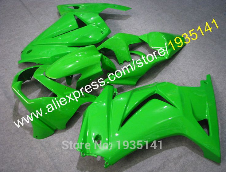 Hot Sales,For Kawasaki  Ninja 08 09 10 11 12 plastic fairing ZX 250R ZX-250 2008-2012 EX250 green body kit (Injection molding) #Affiliate