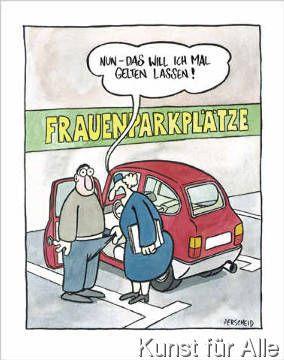Perscheid: Frauenparkplätze. Art Print, Canvas on ...