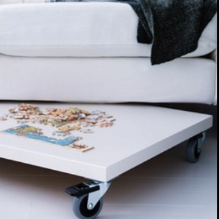 A puzzle table to store under the sofa from ikea perfect for Under sofa table ikea