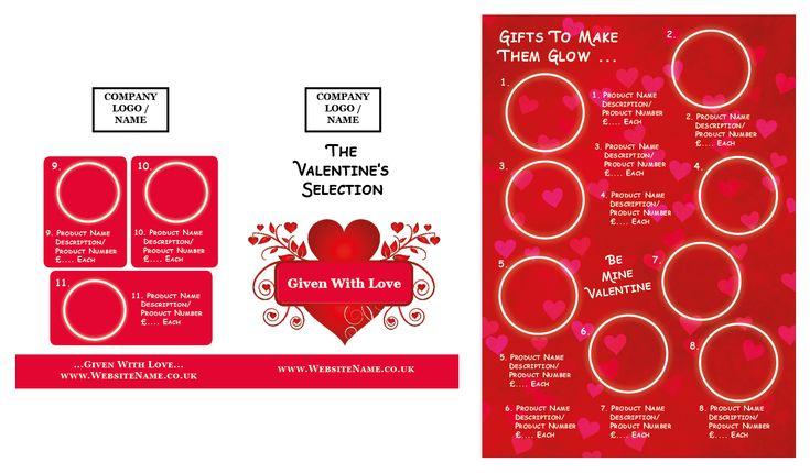 Get your #marketing efforts for #Valentines up to speed with our editable #InDesign Half-Fold #Leaflet #Templates Now available for #download. View the full range of collections at www.busikind.co.uk/shop