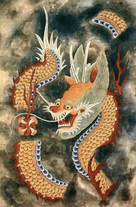 Minwha(Korean Folk art)-Yellow dragon by kimsingu on DeviantArt