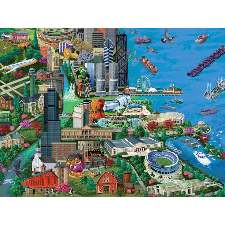 Chicago 1000 Piece Jigsaw Puzzle 29 best