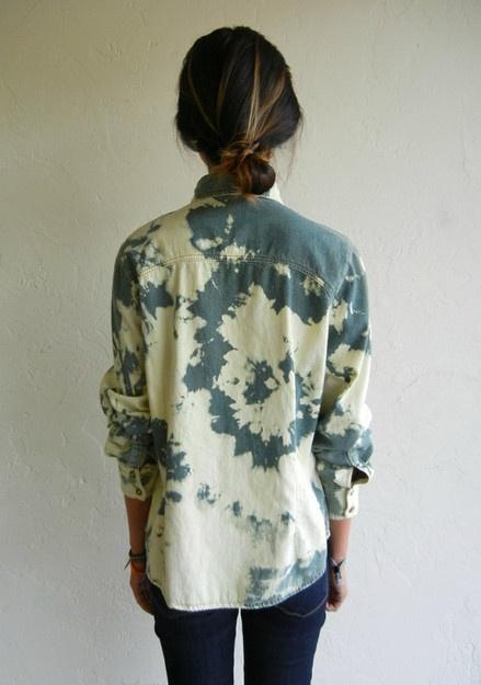 bleached denim shirt. need.