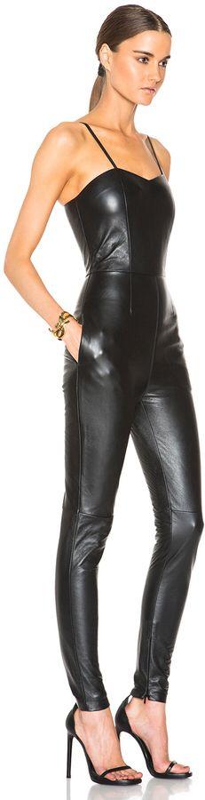 Saint Laurent Leather Jumpsuit