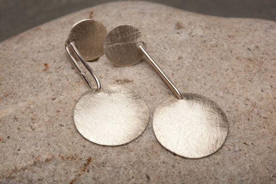 Sterling Silver Jewelry Brushed Studs Sterling by AlmaValleJewelry, $37.99