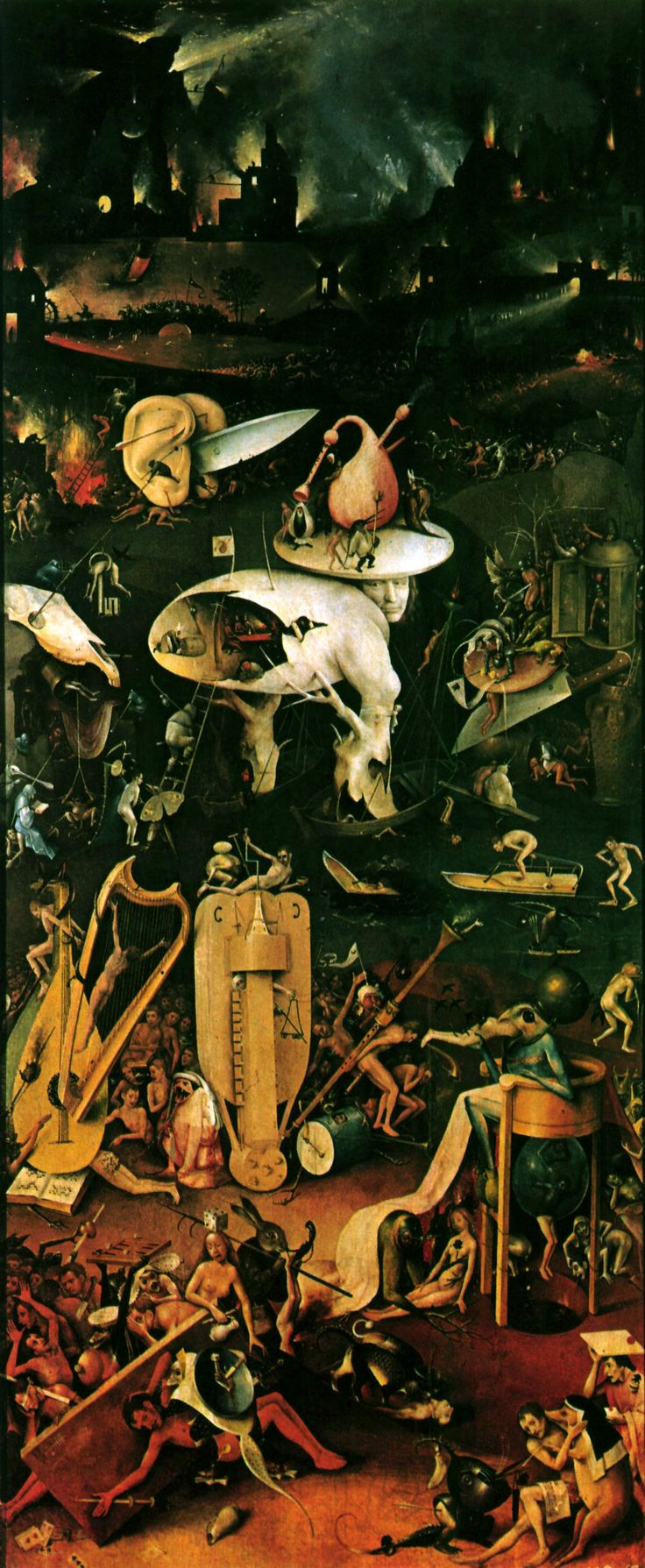 """Instrumentos musicales en el cuadro  """"El jardín de las Delicias"""" de Hieronymus Bosh"""