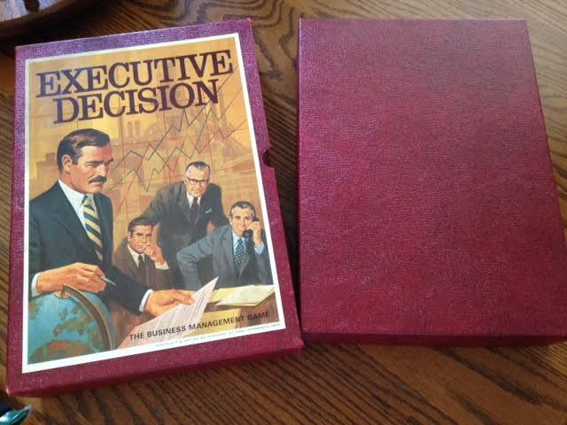 1971 3M Bookshelf Board Game EXECUTIVE DECISION