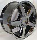 New Chevy Tahoe Suburban Avalanche Silverado LTZ Black Chrome 20 in Wheels Rims - http://awesomeauctions.net/wheels-rims/new-chevy-tahoe-suburban-avalanche-silverado-ltz-black-chrome-20-in-wheels-rims/