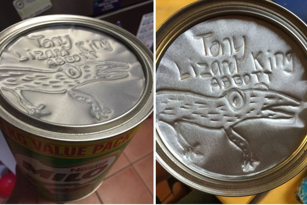 But then there's other times when you can be patient and turn your Milo tin into a work of art. | 21 Things Only People Who Really Fucking Love Milo Understand