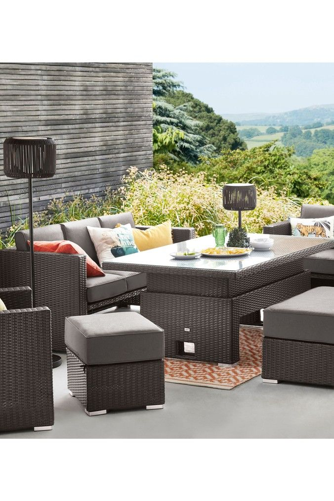 Monaco Living And Dining Table Garden Set In 2020 Outdoor
