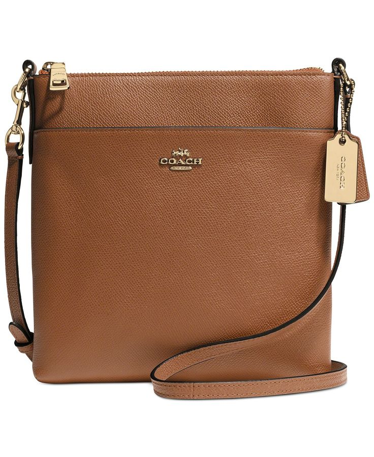 COACH NORTH/SOUTH SWINGPACK IN EMBOSSED TEXTURED LEATHER - Crossbody \u0026  Messenger Bags - Handbags