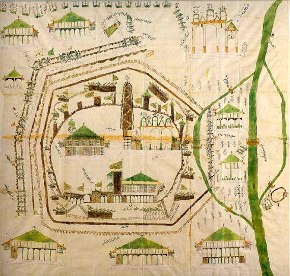 Türkische Planzeichnung zur Belagerung Wiens 1683/Historisches Museum, Wien