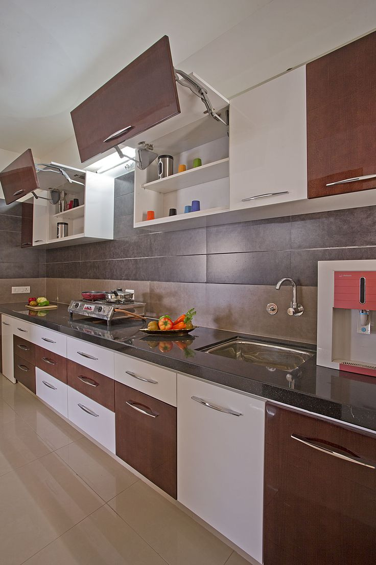 7 best parallel shaped modular kitchen designs images on for Modular kitchen cupboard