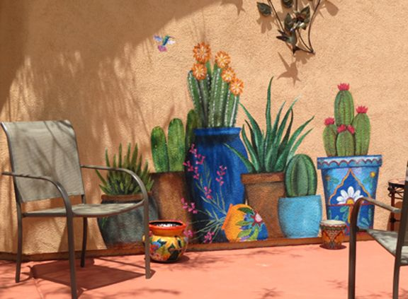 Best 25 garden mural ideas on pinterest for Desert wall mural