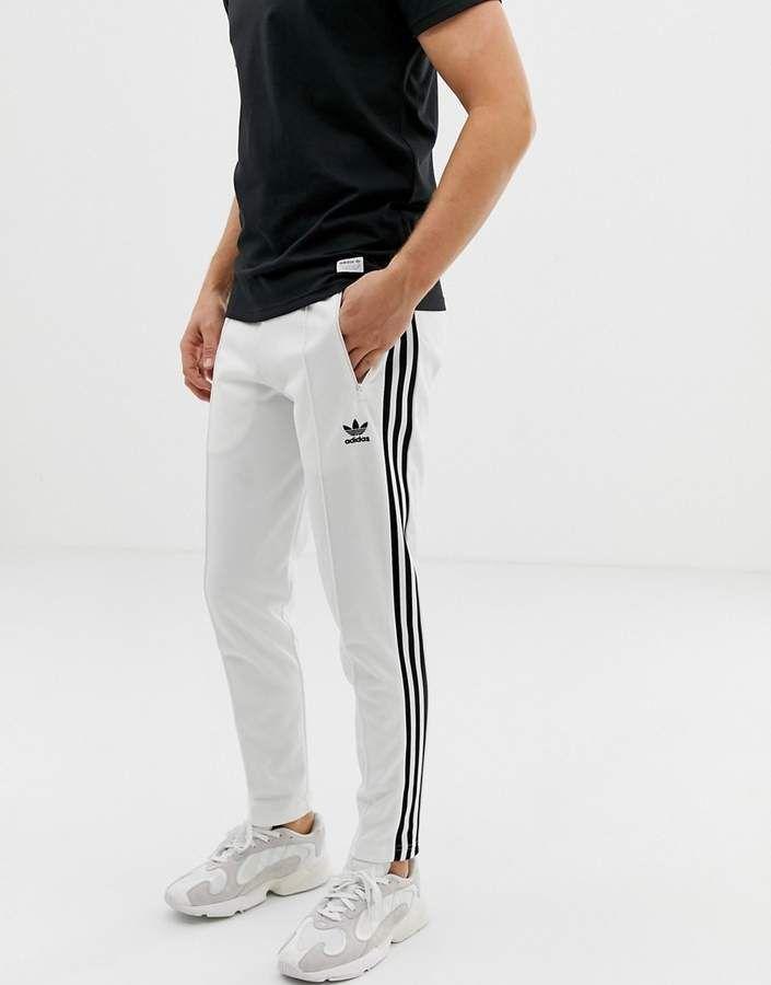 Adidas Originals Beckenbauer Joggers 3 Stripes White Adidas Joggers Outfit White Adidas Originals Sweatpants