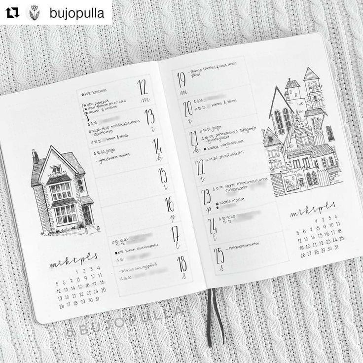 """Bullet Journal-Features auf Instagram: """"Von @bujopulla 💕 💕 ・ ・ Ich habe Bullet Journal vor eineinhalb Jahren gefunden, als ich einen von BoHo Lyrics.ber gesehen habe …"""