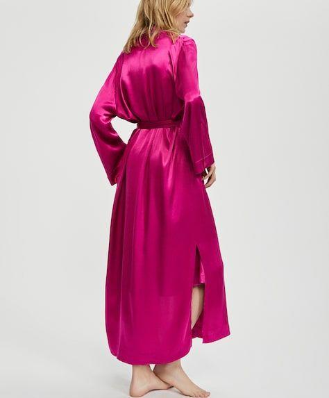 einfarbiger morgenmantel in pink 5 mantel kleidung