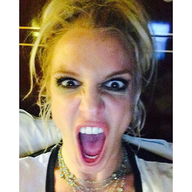 "Pin for Later: See How Your Favorite Stars Are Celebrating the New Year! Britney Spears ""Happy New Years!"""