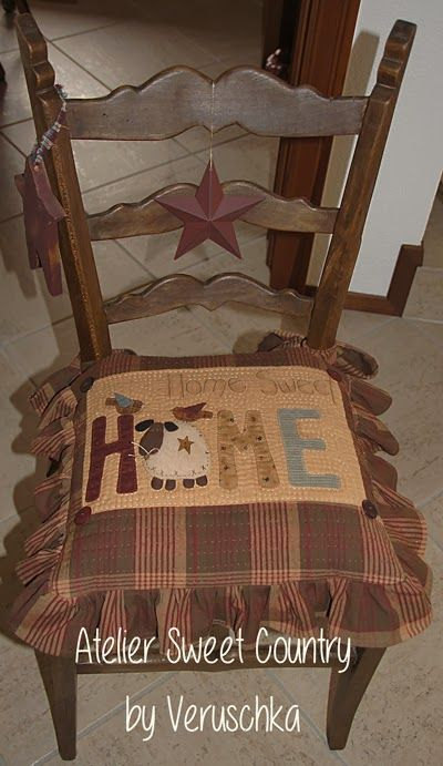 Cool little country chair pillow by Atelier Sweet Country