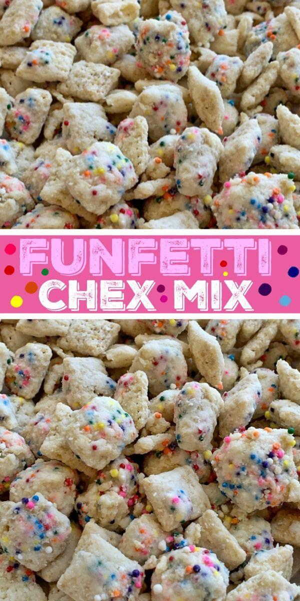 Funfetti Chex Mix Muddy Buddys Puppy Chow Recipe Rice Chex