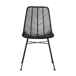 Bloomingville Rattan-Stuhl, schwarz | Möbel | Wohnwelten | Atala Fliesen- und Sanitärhandel Berlin