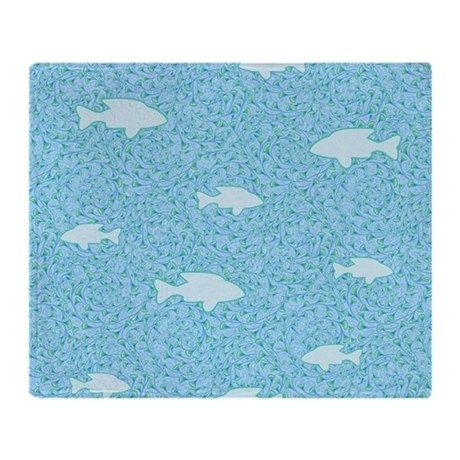 swimming with the fishes Throw Blanket on CafePress.com