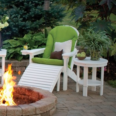 Berlin Gardens Comfo Back Adirondack Chair With Footstool