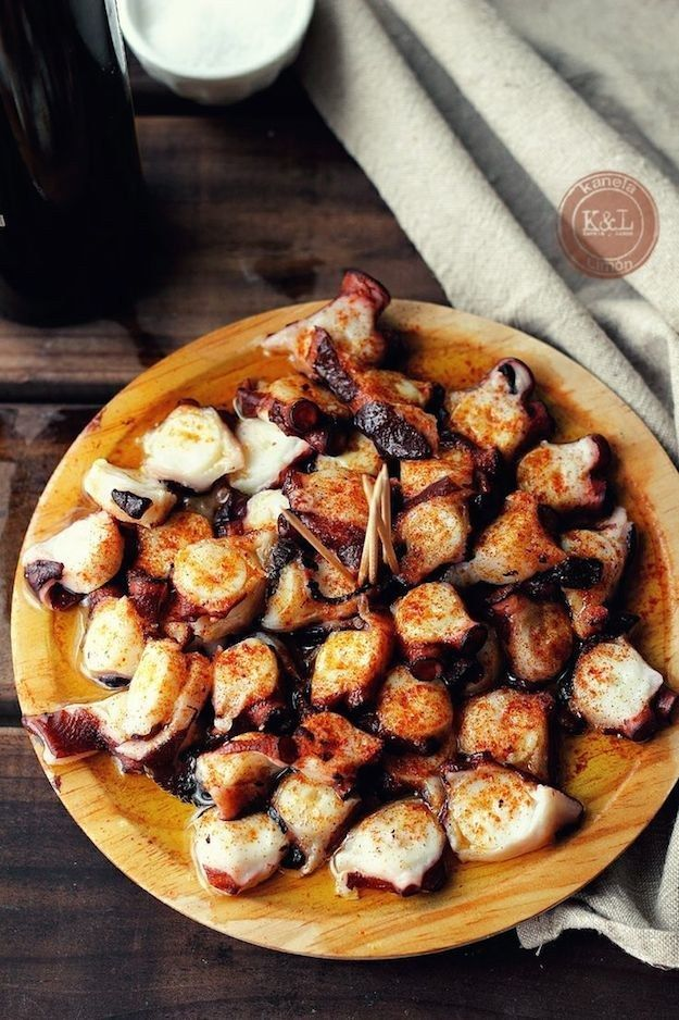 Pulpo A La Gallega | 17 Classic Spanish Dishes Octopus may look freaky, but damn does it taste good. Get the recipe here.