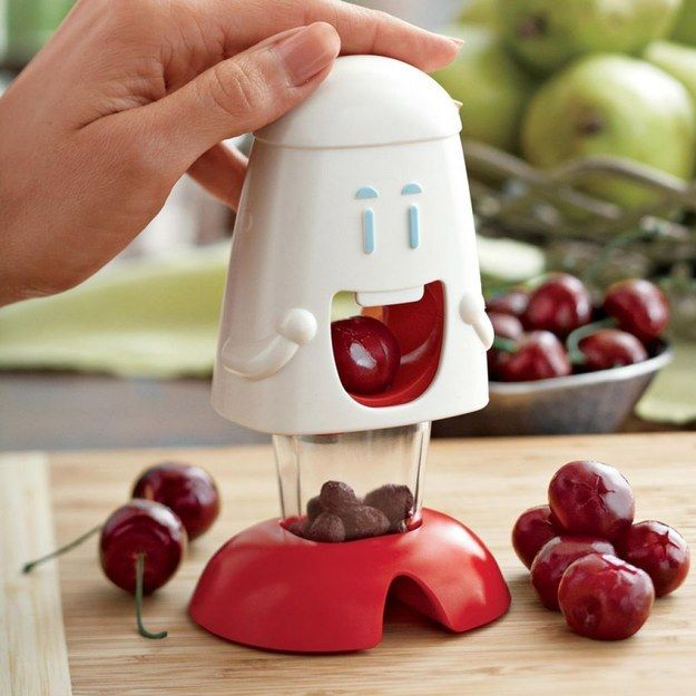 This cherry deseeder that actually smiles at you. | 21 Slicers, Peelers, And Corers You Never Knew You Needed