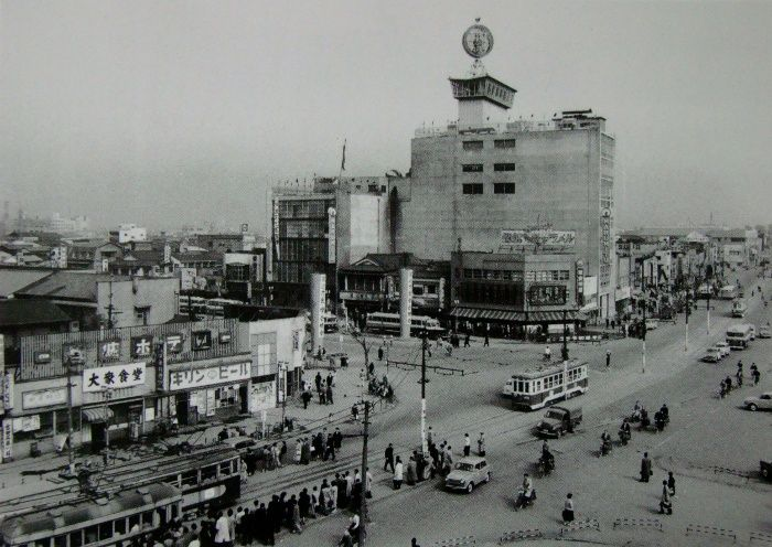 1958年(昭和33年)の仙台駅前丸光デパート付近 | 仙台駅, 仙台, 古写真
