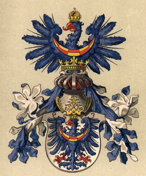 Coat of Arms of the Austrian Province of Krain (Carniola) - Slovenia -- Grb Kranjske iz leta 1890; Hugo Gerard Ströhl, Oesterreischisch-Ungarische Wappenrolle, Dunaj (Vienne), 1890