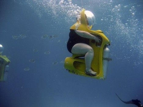 Cool Stuff We Like Here @ http://coolpile.com/gadgets-magazine/ ------- << Original Comment >> ------- Scuba Diving In A Chair.