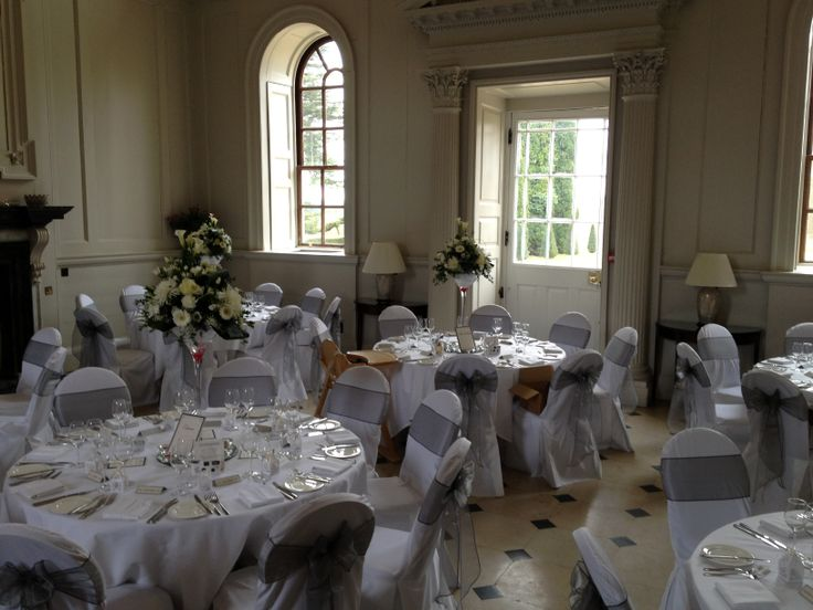 Chicheley Hall dressed for wedding breakfast! We are the recommended string group here!