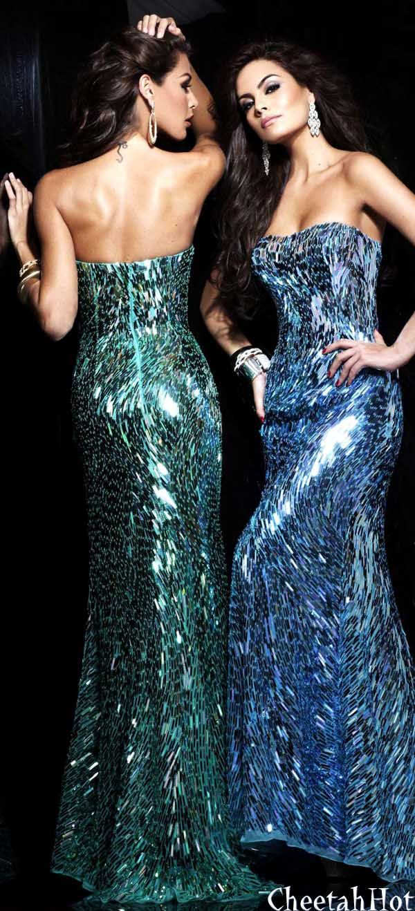 94 best Glam Dresses images on Pinterest | Formal prom dresses ...