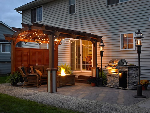 Great pergola to add privacy in small yard