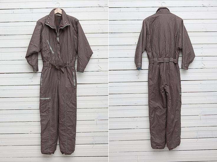 Winter Onepiece / 1980s A Brown Skirwear Onepiece Snow Suit by All Sport / Size 40 / Snowboarding Gear / Mountain Skiing Onesie by CoverVintage on Etsy