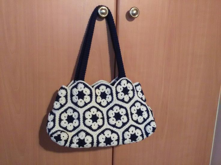 Crochet bag afrikan flower