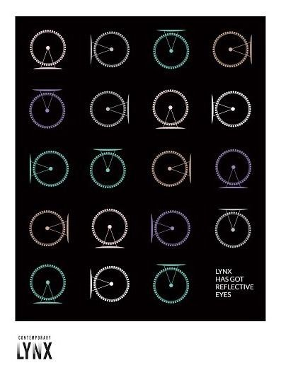 Contemporary Lynx Flyer, Lynx has got reflective eyes, design Marzena Wilk, March 2014