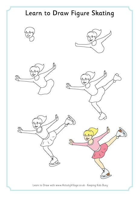 Learn to draw figure skating  -Repinned by Totetude.com