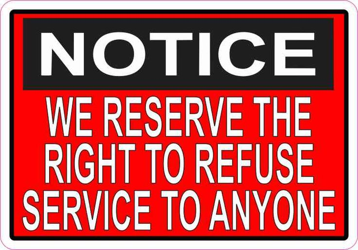 5in x 35in red we reserve the right to refuse service to