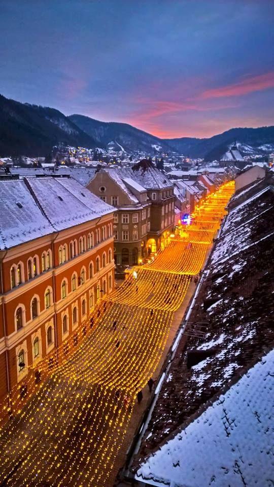 Brașov Downtown in Winter