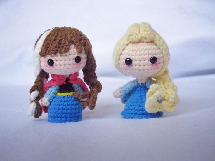 "248 Likes, 9 Comments - song(嵩小锁) (@songxiaosuo) on Instagram: ""#elsa #anna #froze #amigurumi #crochet #crochetdoll #crochetaddict #handmake #craft"""